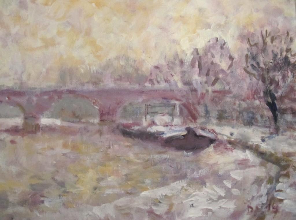 Marktheidenfeld Mainbrücke im Winter